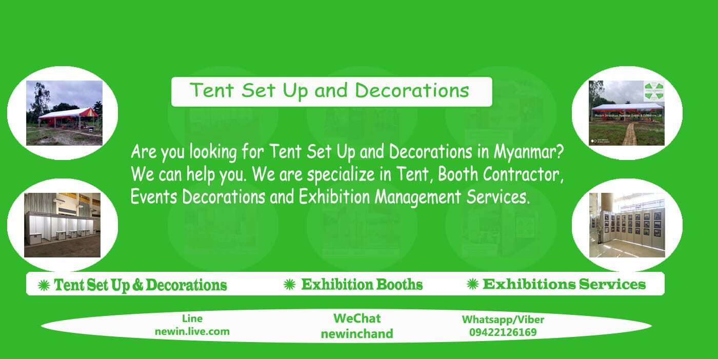 Events & Exhibitions Booth Decorations , Branding Agency In Yangon, Mandalay, Nay Pyi Taw